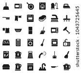 flat vector icon set   scraper...   Shutterstock .eps vector #1043725645