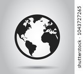 globe world map vector icon.... | Shutterstock .eps vector #1043727265