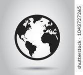 globe world map vector icon.... | Shutterstock .eps vector #1043727265