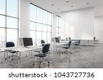 concrete floor office interior... | Shutterstock . vector #1043727736