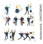 women and men business people... | Shutterstock .eps vector #1043728045