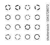 round motion arrow vector...   Shutterstock .eps vector #1043728072