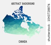 canada map in geometric...   Shutterstock .eps vector #1043728876