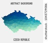 czech republic map in geometric ...   Shutterstock .eps vector #1043729086