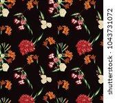 flower pattern for background  | Shutterstock . vector #1043731072