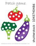 education patch game vegetable... | Shutterstock .eps vector #1043740486