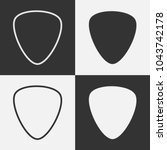 set guitar pick icon