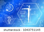 abstract background technology... | Shutterstock .eps vector #1043751145