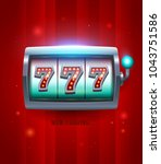 777 slots game widget vector...