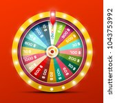 wheel of fortune with jackpot... | Shutterstock .eps vector #1043753992