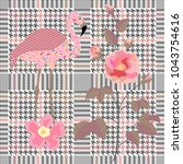 trendy checkered  print with...   Shutterstock .eps vector #1043754616