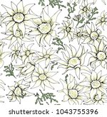 flowers like daisies. flannel... | Shutterstock . vector #1043755396