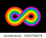 infinity peace rainbow design... | Shutterstock .eps vector #1043758678