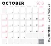 calendar planner for october... | Shutterstock .eps vector #1043760328