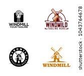 windmill logo design | Shutterstock .eps vector #1043764678