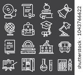 vector outline icon collection  ... | Shutterstock .eps vector #1043766622