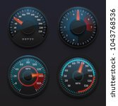 futuristic car speedometers ... | Shutterstock .eps vector #1043768536