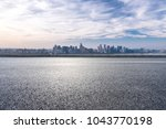 empty road with panoramic... | Shutterstock . vector #1043770198