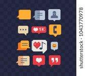 web symbols pixel art speech... | Shutterstock .eps vector #1043770978