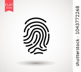 finger print vector  icon  logo....   Shutterstock .eps vector #1043772268