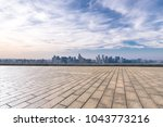 panoramic cityscape with empty... | Shutterstock . vector #1043773216