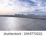 panoramic cityscape with empty... | Shutterstock . vector #1043773222