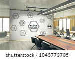 modern meeting room interior... | Shutterstock . vector #1043773705