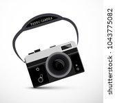 retro film or digital camera  ... | Shutterstock .eps vector #1043775082