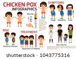 children has chicken pox... | Shutterstock .eps vector #1043775316