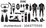 diving  scuba  dive  water  sea ... | Shutterstock .eps vector #1043775535