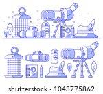 birding icon set with... | Shutterstock .eps vector #1043775862