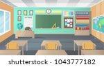 empty school class room with...   Shutterstock .eps vector #1043777182