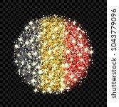 kingdom of belgium flag...   Shutterstock .eps vector #1043779096