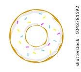 donut on white back | Shutterstock .eps vector #1043781592