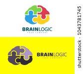 brain logo design  concept... | Shutterstock .eps vector #1043781745