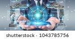 businessman on blurred... | Shutterstock . vector #1043785756