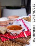 hungarian traditional food ... | Shutterstock . vector #1043787382