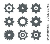 cogs  gears icons isolated | Shutterstock .eps vector #1043792758