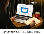 reply the message email on... | Shutterstock . vector #1043804482