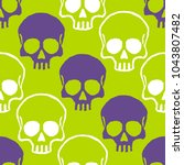 seamless pattern with hand... | Shutterstock .eps vector #1043807482
