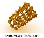 simple geometrical figure. 3d | Shutterstock . vector #10438081