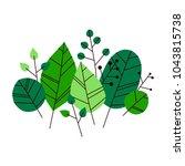 hand drawn vector leaves set. ...   Shutterstock .eps vector #1043815738