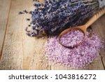lavander salt with natural spa... | Shutterstock . vector #1043816272