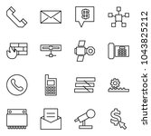 flat vector icon set   phone... | Shutterstock .eps vector #1043825212