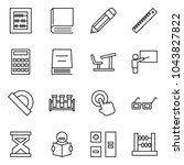 flat vector icon set   abacus... | Shutterstock .eps vector #1043827822