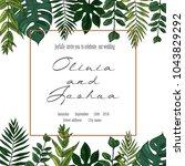 vector wedding invite... | Shutterstock .eps vector #1043829292