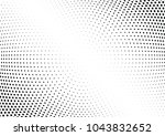 abstract halftone wave dotted... | Shutterstock .eps vector #1043832652