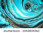 very beautiful marble art ocean ... | Shutterstock . vector #1043834362