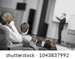 listeners business courses ... | Shutterstock . vector #1043837992