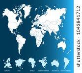 color world map vector | Shutterstock .eps vector #1043841712